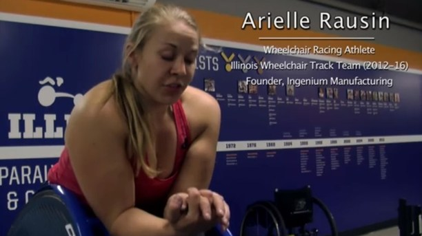 Wheelchair Athlete's Invents Custom Gloves for Wheelchair Racers