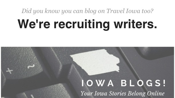 Did you know you can blog on Travel Iowa too?