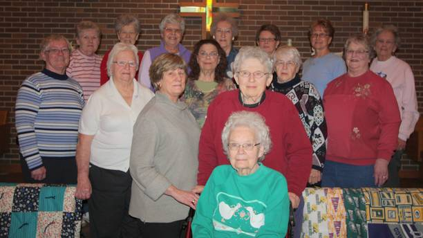 Calmar Lutheran Quilters Give to Others
