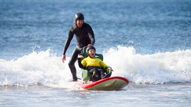 WATCH: New Specially-Designed Surfboard Fulfills Boy's Surfing Dream