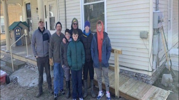 Students Built a Wheelchair Ramp for Local Family
